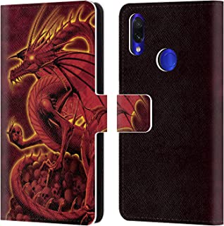 Official Vincent HIE Abolisher Red Dragons 2 Leather Book Wallet Case Cover Compatible for Xiaomi Redmi Note 7/7 Pro