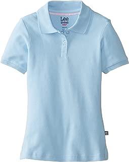 Lee Uniforms Little Girls' Short Sleeve Stretch Pique Polo