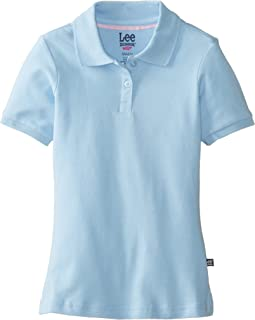 Lee Uniforms Little Girls' Short Sleeve Stretch Pique Polo
