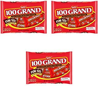100 Grand Candy Bars, Fun Size, 11 Oz Pack Of 3
