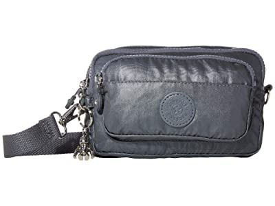 Kipling Multiple Convertible Waistpack (Steel Grey Metallic) Handbags