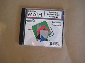 Big Ideas Math Dynamic Assessment Package CD for Blue, red and Green levels