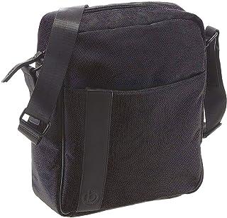 Bugatti Domani große Umhängetasche für Herren und Damen Schultertasche Leder, Messenger Bag Kuriertasche, Grau