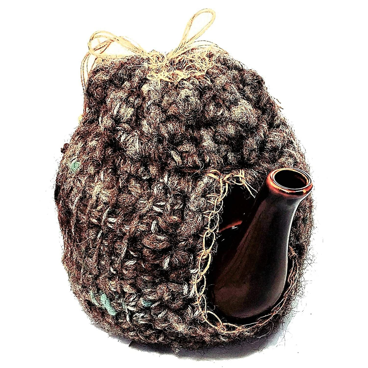 Teapot Cozy Weekly security update Insulating Wool Cover- Knit Country Farmhou Natural