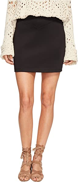 Free People Ponte Knit Skirt