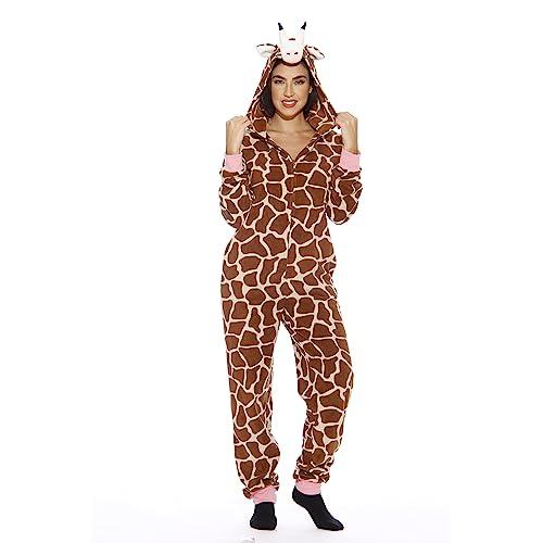 db5a4c71d1c2 Just Love Animal Print Microfleece Adult Onesie One-Piece Pajamas