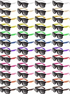 48 Piezas Gafas de Sol de Color neón Gafas de Sol de Fiesta de los años 80 Gafas de Sol Retro Gafas de Sol de Fiesta en la Piscina de Playa para la Fiesta de graduación Vacaciones del Carnaval