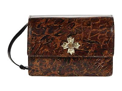 Patricia Nash Consilina Floret Twist Lock Crossbody (Abstract Animal) Handbags