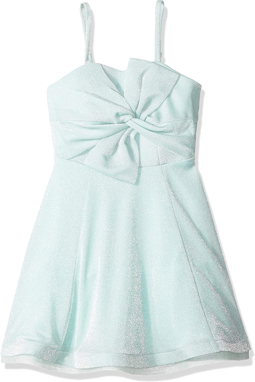 Amy Byer Girls' Big Sequin Bodice Maxi Dress