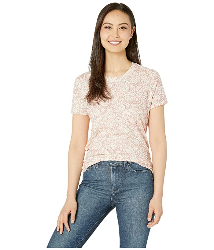 Lucky Brand  All Over Floral Tee (Red Multi) Womens T Shirt
