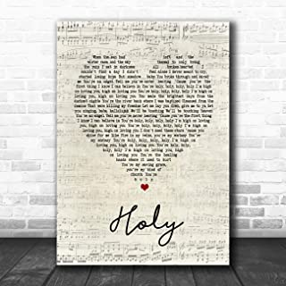 Holy Script Heart Song Lyric Quote Music Poster Gift Present Art Print