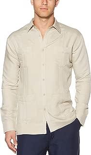 Cubavera Men's Long Sleeve Traditional Cuban Guayabera Button-Down Shirt