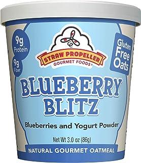 Straw Propeller Gourmet Foods Natural Gourmet Oatmeal, Blueberry Blitz, 3.0 Ounce (Pack of 12)