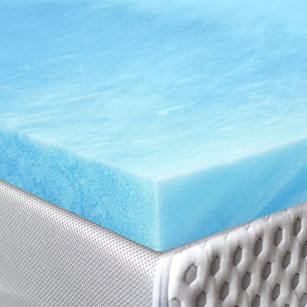 Red Nomad - Full Size 2 Inch Thick,  Ultra Premium Gel Infused Visco Elastic Memory Foam Mattress Pad Bed Topper - Made in The USA