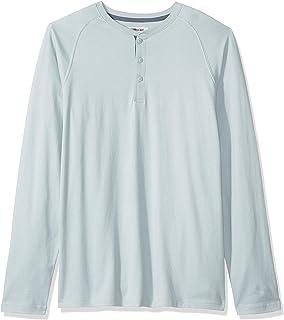 Marchio Amazon - Goodthreads, maglia Henley in jersey da uomo, a maniche lunghe, effetto scamosciato