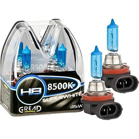 Gread 2x H8 Halogenlampe Xenon Style Weiss 8500k 35w E Prüfzeichen Auto