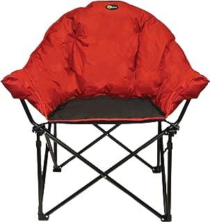 Faulkner 49579 Big Dog Bucket Chair, Burgundy/Black