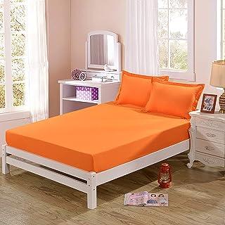 Premium Quality Plain Fitted Sheet, Soft & Cosy Fleece Bed Linen, Kingsize Bedsheet,150x200cm【(48x74cm) x2】
