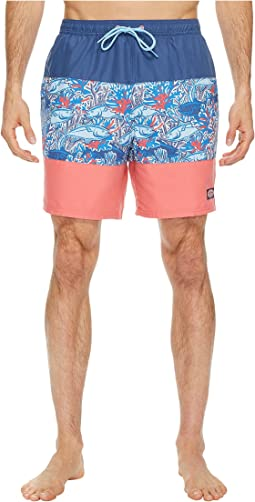 Vineyard Vines - Tuna in Coral Pieced Chappy Swim Trunks
