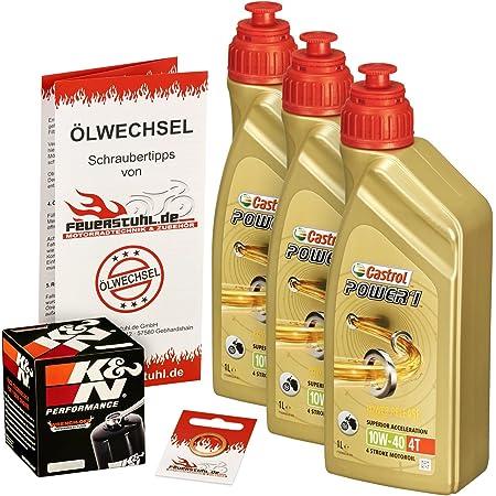 Castrol 10w 40 Öl K N Ölfilter Für Honda Cbr 650 F 14 16 Rc74 Ölwechselset Inkl Motoröl Filter Dichtring Auto