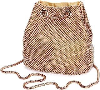 Damen Abendtasche Clutch Umhängetasche Kleine Pailletten Handtasche Schultertasche Kette Tasche für Hochzeit Party Disko -...