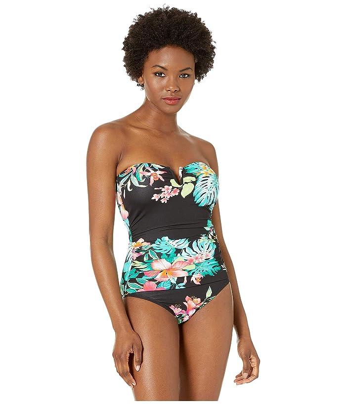 Tommy Bahama Fleur De Flora V-Wire Bandeau (Black) Women
