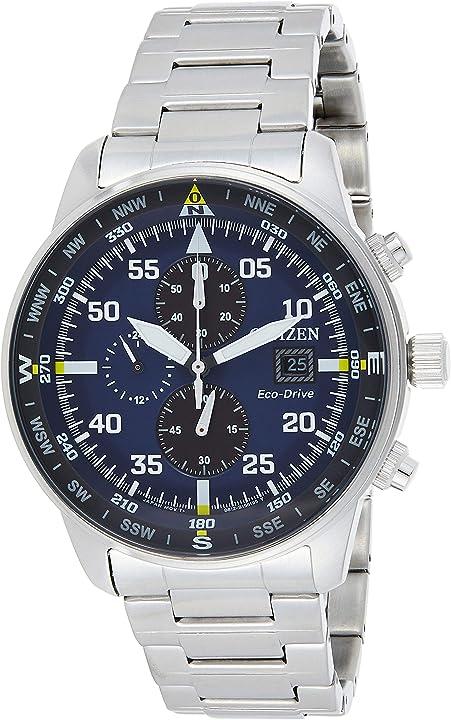 Orologio cronografo citizen quarzo uomo con cinturino in acciaio inox ca0690-88l