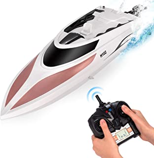 RC Boat - Remote Control Boat for Kids and Adults – 20+ MPH Speed – Durable Structure – Innovative Features – Incredible Waves – Pool or Lake - 4 Channel Racing – 2.4 GHz Remote Control - H102 Model