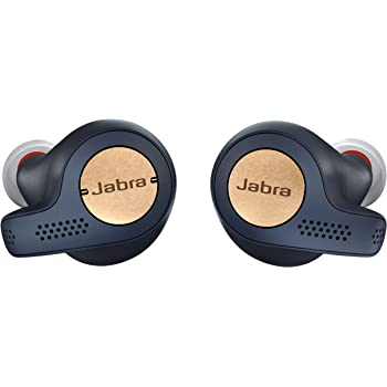 Jabra Elite Active 65t Earbuds – True Wireless Earbuds with Charging Case, Copper Blue –  Bluetooth Earbuds with a Secure Fit and Superior Sound, Long Battery Life and More (100-99010000-02)