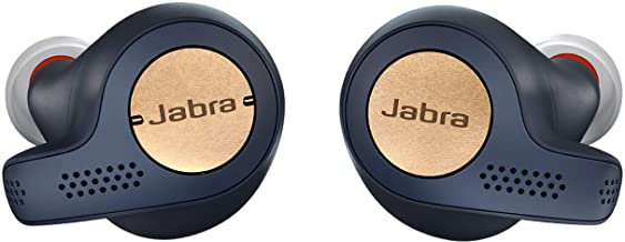 Jabra Elite Active 65t Earbuds – True Wireless Earbuds with Charging Case, Copper Blue – Bluetooth Earbuds with a Secure F...