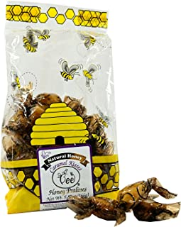 Queen Bee Gardens Natural Honey Caramel Pralines Candy Chews – 5.87 oz – Caramel Kisses