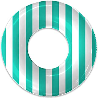 Float Naked | Pool Tubes with Fun Prints | Celebrity-Approved Tubes for Floating | Fun Swim Floaties for Adults | Great Inner Tube Pool Floaty for All Ages (Sea Green Stripe)