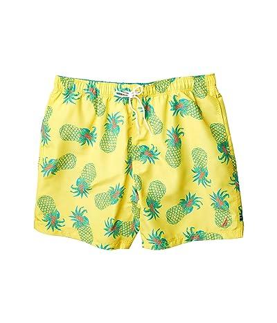 Nautica Big & Tall Big Tall Tropical Pattern Swimwear (Yellow) Men