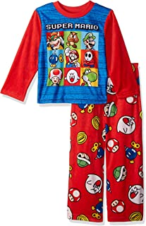 Super Mario Brothers Boys' Nintendo 2-piece Fleece Pajama Set