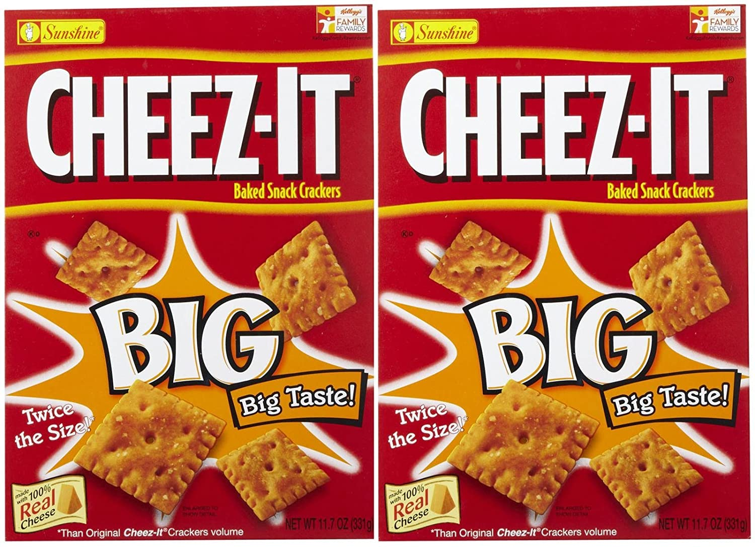Cheez-It Baked Snack Crackers National products - Big Pack 2 Original oz Cheap 11.7