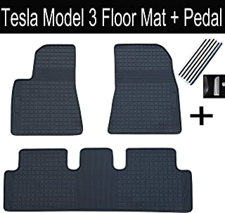 LFOTPP Tesla Model 3 Gummi Matten Becherhalter Slot Pad Rubber Mats Auto Styling Innent/ür Blau