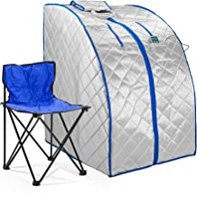 Durasage Infrared IR Far Portable Indoor Personal Spa Sauna with Heating Foot Pad and..