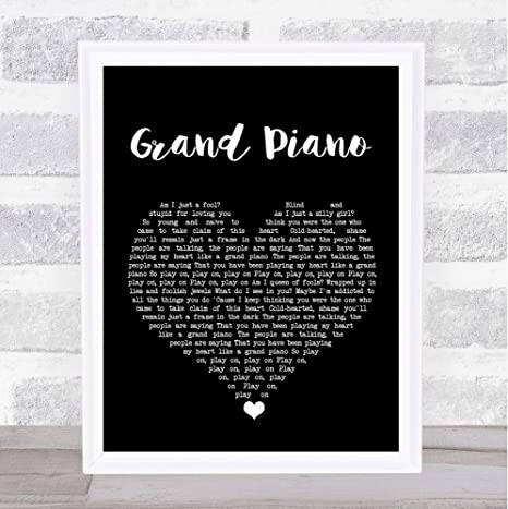Nicki Minaj Grand Piano Black Heart Song Lyric Wall Art Print Poster Wall Art Home Decor Posters Prints