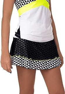Falda de Padel o Tenis IDAWEN. Cintura Alta, Tejido de