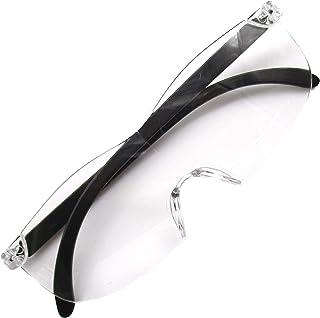 アラフォーに使ってほしい 倍率 1.3倍 メガネルーペ ブルーライトカット 眼鏡型 ルーペ 拡大鏡