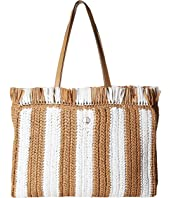Kate Spade New York - Sam Stripe Straw Large Tote