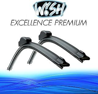 Wish® Excellence Premium Satz Front Scheibenwischer Länge: 21' 530mm / 18' 450mm Wischblätter Vorne Flachbalkenwischer EP21.18