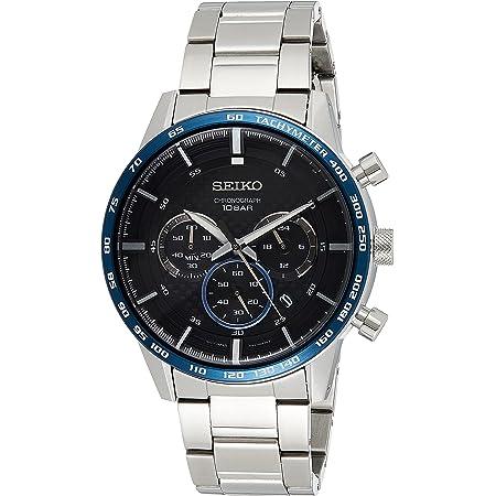 [セイコー] SEIKO 腕時計 クロノグラフ クォーツ SSB357P1 ブラックメタルブルー シルバー メンズ 海外モデル [逆輸入品]