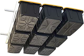Overhead Garage Storage Rack - Organize Up to 13 Storage Tote Container Bins on The Ceiling