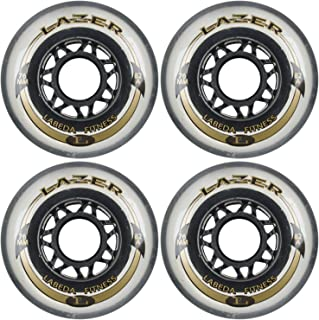 Labeda Inline Outdoor Wheels Lazer 76mm 82A Clear x4