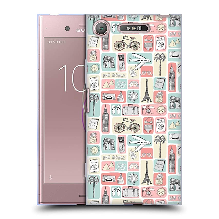 Official Andrea Lauren Design Travel Love Lady Like Soft Gel Case for Sony Xperia XZ1 / Dual