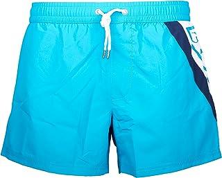 GUESS, Logo Clásico Natación Pantalones Cortos De Hombres, Coral Y Rojo