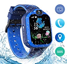 bohongde Kids Waterproof Smart Watch Phone,Smartwatch for Children's with Tracker Touch Screen SOS Camera Alarm Clock Games for 3-14 Years Old Boys Girls Students Birthday Gifts (Blue)