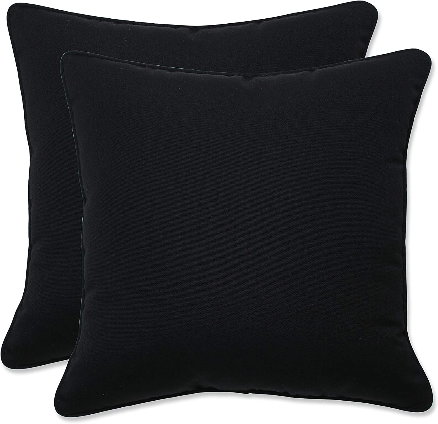 Pillow Perfect Outdoor Indoor Topics on TV Canvas Black Throw OFFer Inch 16.5 Pil
