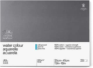 Winsor & Newton Professional Watercolor Paper Block, Cold Pressed 140lb, 12